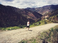 Jogging in the Andes