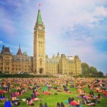 Public Yoga - Parliament Hill Ottawa